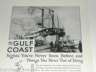 1930 Louisville & Nashville RR advertisement, Mississippi steamboat, cotton