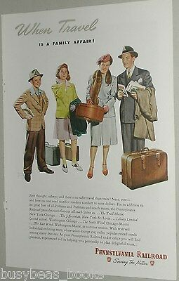 1946 Pennsylvania RR ad, Family Travel, Herbert Bohnert