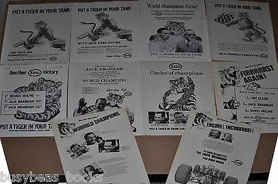 1965-67 ESSO advertisements x10, British adverts, Esso petrol Tiger in your Tank
