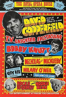 Scarborough Royal Opera House1985 'laughter Spectaculer' David Copperfield Prog.