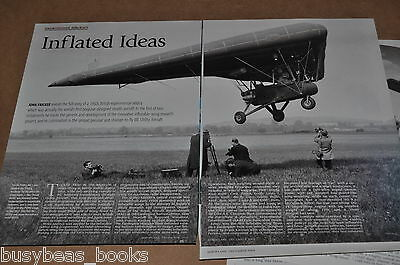 ML Utility inflatable wing airplane, British magazine articles, history, photos