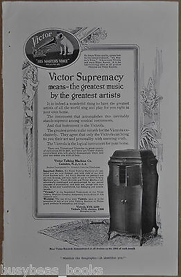 1917 VICTROLA advertisement, Victor Talking Machine, Nipper, Victrola XVII
