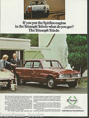 1972 TRIUMPH TOLEDO advertisement, British Leyland Triumph, British advert