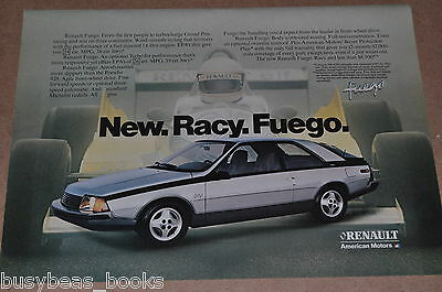 1982 Renault advertisement, Renault Fuego, with Renault Elf RS01 F1 race car