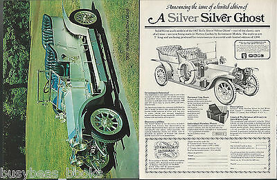 1907 ROLLS-ROYCE Silver Ghost model advertisement from 1977 Solid Sterling Silve