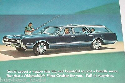 1966 Oldsmobile advertisement page, Olds Vista Cruiser station wagon