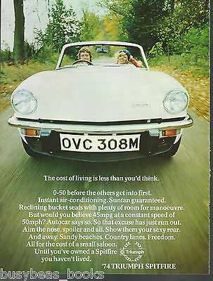 1974 TRIUMPH SPITFIRE advertisement, British Leyland Triumph, British advert