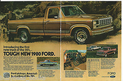 1980 FORD Ranger F150 Pickup 2-page advertisement, Ford Ranger Pickup Truck