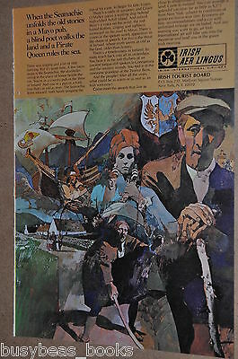 1969 AER LINGUS advertisement, Irish Airlines, Ireland Folklore Legends, Eire