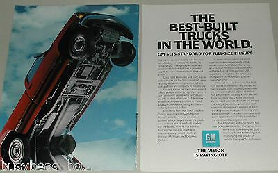1988 General Motors 2-page ad, pickups, underneath view
