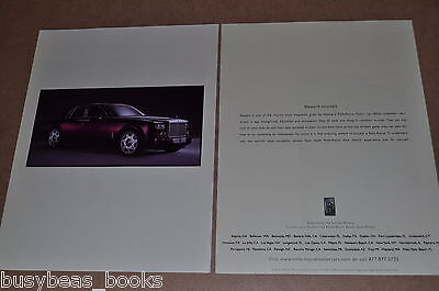 2005 Rolls Royce 2-page advertisement, ROLLS-ROYCE Phantom sedan