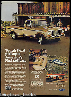 1979 FORD F-100 advertisement, Ford F100 Pickup truck