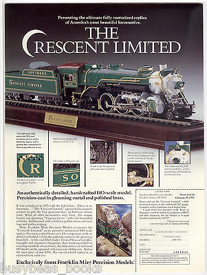 1992 Franklin Mint advertisement for HO Scale CRESCENT LIMITED Steam Locomotive