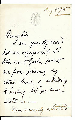 1885 letter Albert Grey (earl) re General Gordon expedition to the Nile & Congo