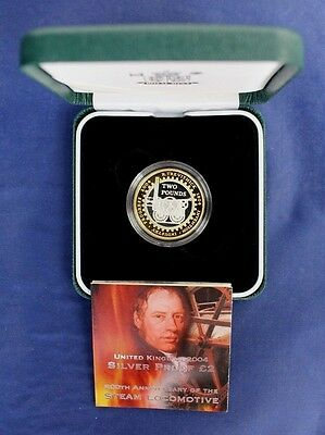"""2004 Silver Proof £2 coin """"Steam Locomotive"""" in Case with COA    (C6/3)"""