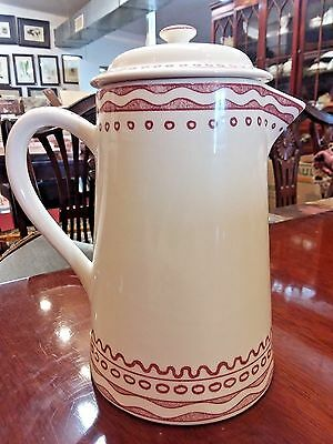 """GIEN Aurelie Pink Rose 7 1/8""""  4 cup Coffeepot with Lid Fine French Pottery"""