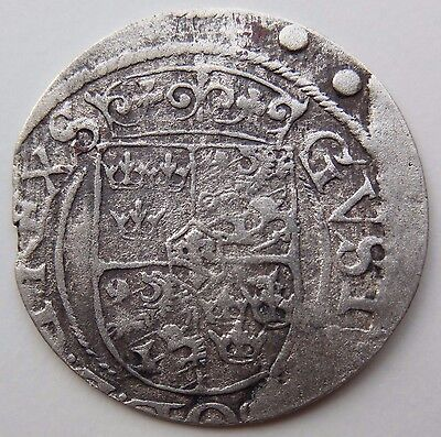 Sweden Medieval Silver Coin 1624 AD from Shipwreck Baltic Sea