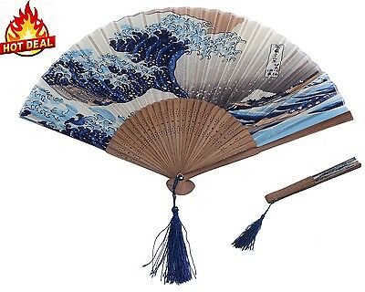 Folding Hand Fans Hand Held Fan New Japanese Handheld Bamboo Paper Wedding Party