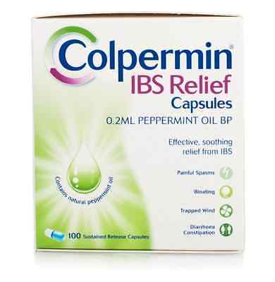 Colpermin IBS Relief Capsules - Peppermint Oil - 100 Capsules EXP:10/2019