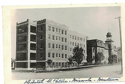 U.s.a. Antique Real Photo Postcard St Patrick's Hospital Missoula Montana