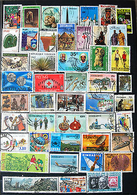 Great Collection of Different Used African Stamps.