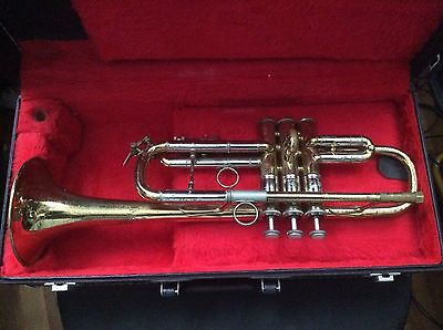 VERY EARLY ELKHART #32xxx Bach 236 Bell C/D Stradivarius Trumpet & Case