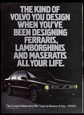 1987 Volvo 780 advertisement Canadian ad Limited Edition Volvo 780 Bertone Coupe