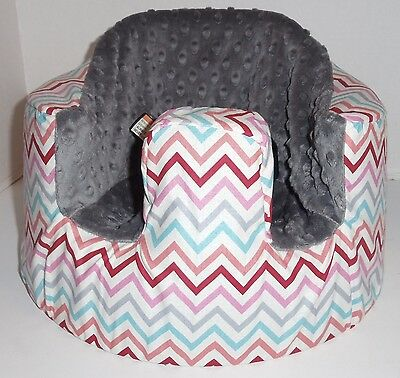 New Bumbo Floor Seat COVER • Multi Colored Chevron • Safety Strap Ready