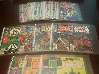 Rare (34) Vintage Star Wars Marvel Comic Collection With # 1-4 Limited Series