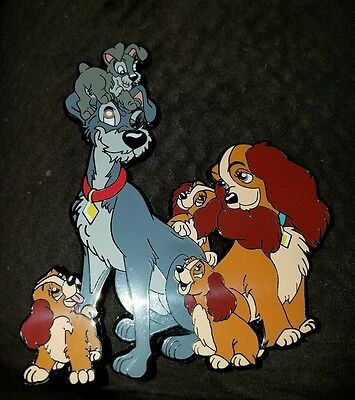Disney Inspired Fantasy pin Lady and the tramp play  time jumbo