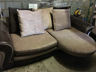 Large Sofa, Swivel Chair And Storage Footstool