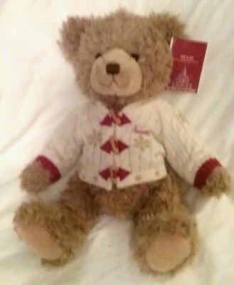 NWT 2016 Harrods Hugh Christmas Teddy Bear Foot Dated Xmas Free Shipping US