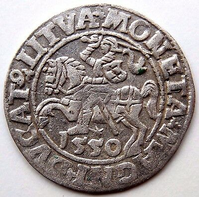 Medieval Hammered Silver Coin 1550 AD Shipwreck Baltic Sea Very Rare!