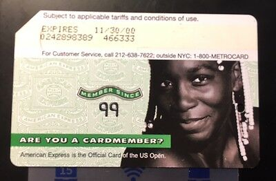 NY CITY METROCARD US OPEN 1999 VENUS WILLIAMS issued August 1999