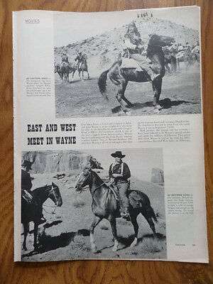 1956 Movie Photo Article Ad  Hollywood Star John Wayne