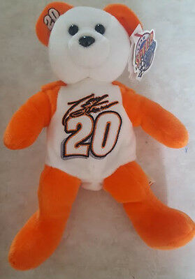 TONY STEWART TEAM SPEED BEANS BEANIE BABY BEAR STUFFED TOY w TAG NRMT NASCAR