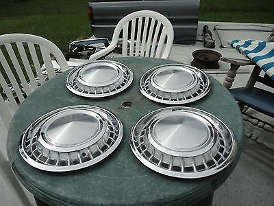 1958 Plymouth Belvedere Oem 4 Used Hubcaps Nr