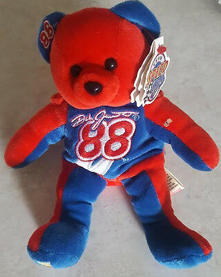 DALE JARRETT TEAM SPEED BEANS BEANIE BABY BEAR STUFFED TOY w TAG NRMT NASCAR