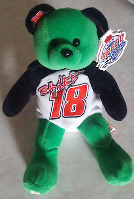 BOBBY LABONTE TEAM SPEED BEANS BEANIE BABY BEAR STUFFED TOY w TAG NRMT NASCAR