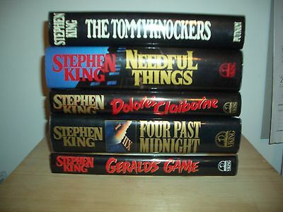 Lot of 5 vintage STEPHEN KING HARDCOVER BOOKS w/ Dust Covers