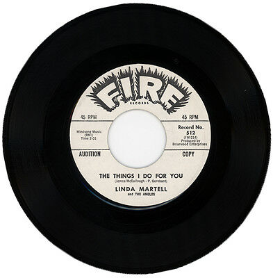 "LINDA MARTELL & THE ANGLOS  ""THE THINGS I DO FOR YOU c/w A LITTLE TEAR"" DEMO R&B"