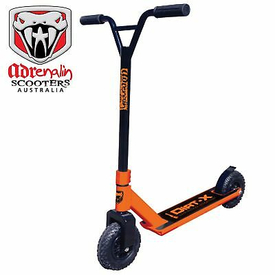 Adrenalin Dirt Scooter Dirt-X Off Road Adult Push Scooter - Orange