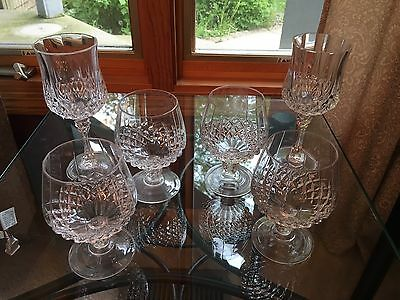 Set Of 6 - 4 Crystal Brandy Cognac Scotch Whiskey Snifter 2 Tall