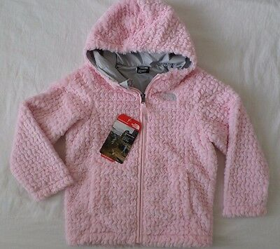 New The North Face Kids Toddler Girls Laurel Fleece Hoodie Jacket Pink Size 4T