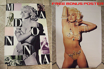 """Madonna - RARE OOP Original Poster 1992 - photo by S. Meisel  23x35"""" Excellent"""