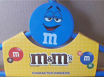 NEW M&M's Plastic Hangers Set Blue Red Yellow