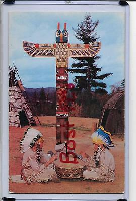 Indian Braves,drum,totem Pole-The Indian Village-Lake George,ny