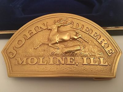 John Deere Belt Buckle Triple Plated with 24K Gold Collector's Limited Edition