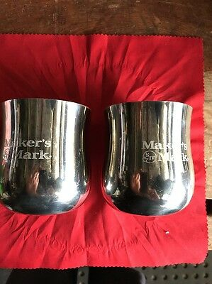 Makers Mark Sheffield Pewter Drink Goblets New Display Stock