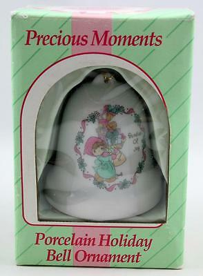 "Precious Moments 111147 Porcelain Holiday Bell ""Bundles of Joy"" 1994 w/Box"